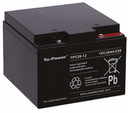 Gel Deep cycle battery 12V 26Ah